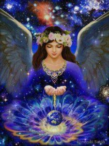 ange couronné