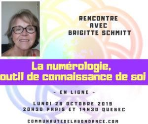 Conférence numérologie 28 octobre 2019